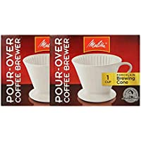 Melitta 64101 Porcelain #2 Cone Brewer - 2 Pack