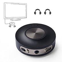 Avantree Dual link aptX LOW LATENCY Bluetooth Transmitter for TV, 3.5mm Wireless Audio Adapter Splitter for Headphones, Bluetooth 4.2 - PRIVA III [2 Year Warranty]