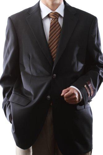 [해외]남자 싱글 브레스트 2 버튼 슈퍼 110 ` s 블랙 100% 울 블 레이저 / Men`s Single Breasted 2 Button Super 110`s Black 100% Wool Blazer