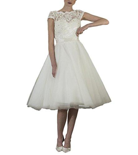 Abaowedding de marfil las mujeres de vestido blanco Fq7wfErF
