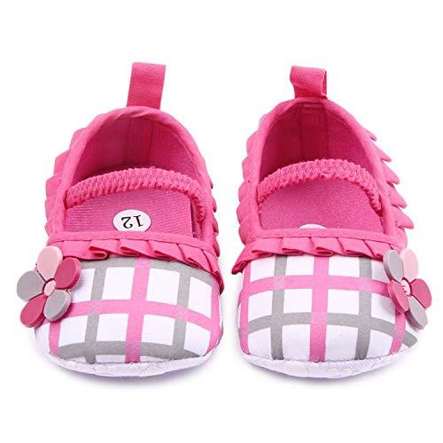 Beautymade Baby Shoes Girls First Walker Plaid Toddler Infants Kids Princess Prewalker Anti-Slip Shoe