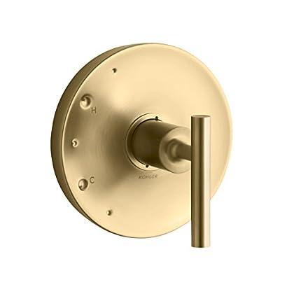 Image of Home Improvements KOHLER TS14423-4-BGD Purist Rite-Temp Valve Trim with Lever Handle, Vibrant Moderne Brushed Gold