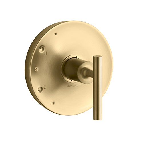 KOHLER TS14423-4-BGD Purist Rite-Temp Valve Trim with Lever Handle, Vibrant Moderne Brushed Gold by Kohler