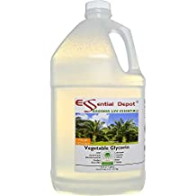 Glycerin Vegetable - 1 Gallon (10.75 lbs or 172oz net wt) - Non GMO - RSPO - Sustainable Palm Based - USP - KOSHER - PURE - Pharmaceutical Grade - safety sealed HDPE container with resealable cap