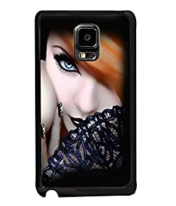 Fuson Gorgeous Girl Back Case Cover for SAMSUNG GALAXY NOTE EDGE - D4059