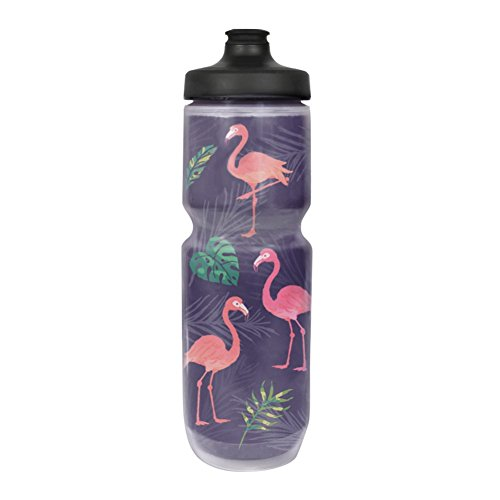 Simply Pure Hydration Purist 23 oz Insulated Water Bottle - BPA Free Sport Bottle - 20% Colder Than Other Insulated Bottles - Limited Edition, Watergate Cap (Flamingo, One ()