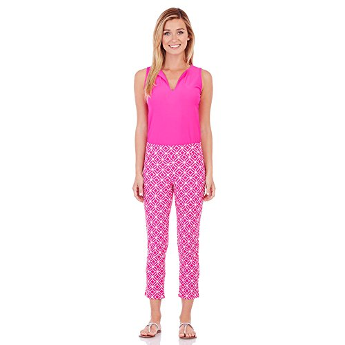 Jude Connally Women's Laura Crop Pants Star Lattice Hot Pink durable modeling