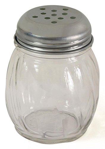 FixtureDisplays 6oz Glass Shaker - Stainless Steel Lid 19686 19686 by FixtureDisplays (Image #1)