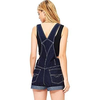 Revolt Women's Juniors Classic Twill Short Overalls: Clothing