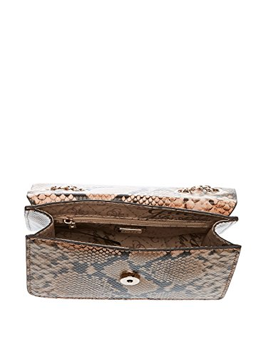 GUESS Nikki Convertible Crossbody Flap Natural Python