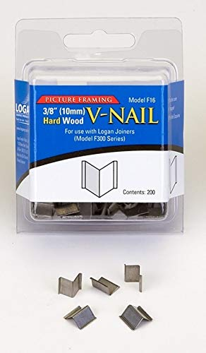(Logan Graphics Framing Hardware Frame Joiner V-Nails 3/8 Inch For Hardwood, Package of 200 for Framing, Joining Wood Corners or Stretcher Bars)