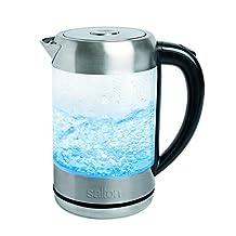 Salton GK1465 Cordless Electric Glass Kettle, 1.7 L, Clear
