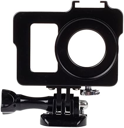 Camera case Color : Black Black for MOBILEACCESSORIES TL Housing Shell Metal Protective Cage with Basic Mount UV Lens Filter for Xiaoyi Screw