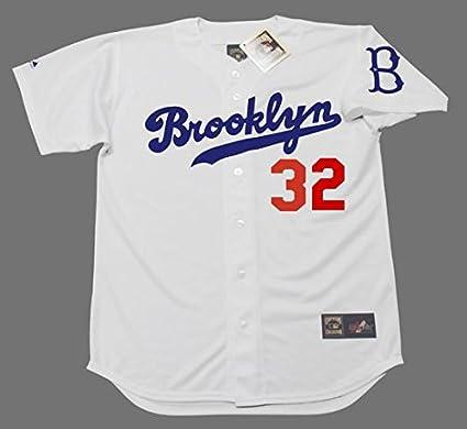 SANDY KOUFAX Brooklyn Dodgers Majestic Cooperstown Throwback Baseball Jersey 7e8e713696c