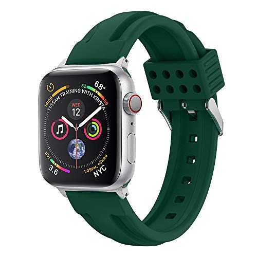 XBKPLO Compatible for Apple Watch Series 4 Band 38mm 40mm DIY Jelly Silicone Replacement Watch Strap Button Series 3/2/1 Women Retro Cuff Bracelet