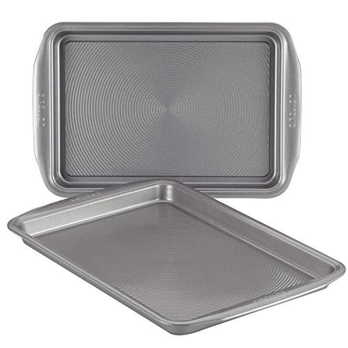 Circulon 47484 2-Piece Bakeware Set Steel Baking Sheet, Gray