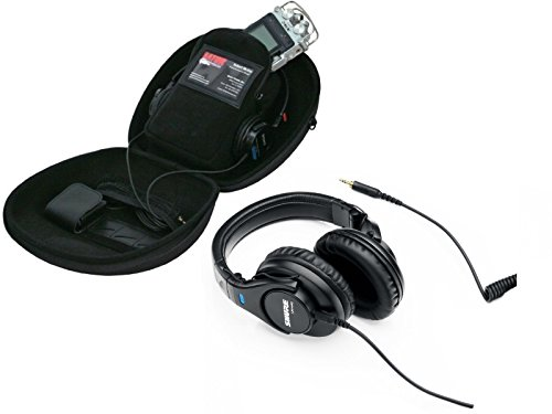 Shure SRH440 Professional Monitor Headphones with Gator Recorder Case for Recorders, Headphones and Accessories by Shure