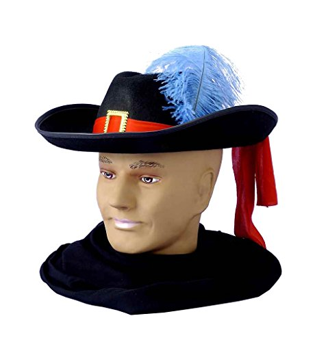[Forum Novelties Men's Novelty Adult Musketeer Hat, Multi, One Size] (Adult Musketeer Costumes)