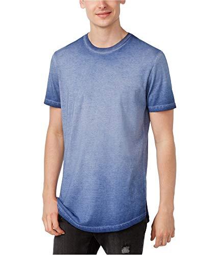 American Rag Men's Ombre Washed Elongated T-Shirt (Asphalt Blue, Medium)