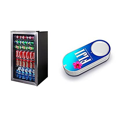 NewAir AB-1200 126-Can Beverage Cooler, Cools to 34 Degrees & FIJI Water Dash Button