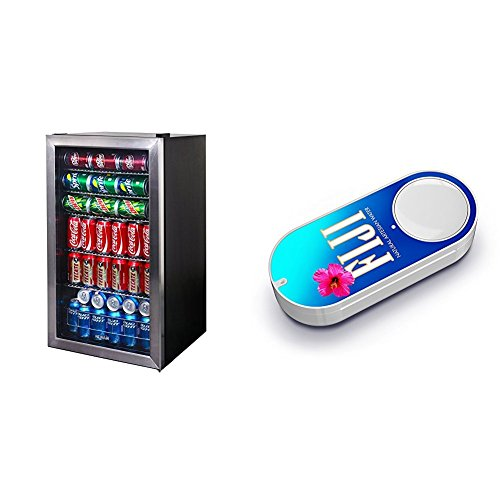 Price comparison product image NewAir AB-1200 126-Can Beverage Cooler,  Cools to 34 Degrees & FIJI Water Dash Button