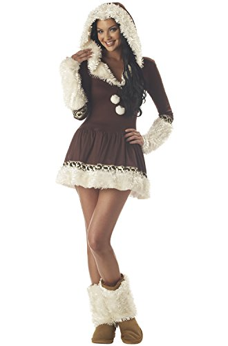 Kiss Costumes Women (California Costumes Women's Eskimo Kisses Costume,Brown/White,Large)