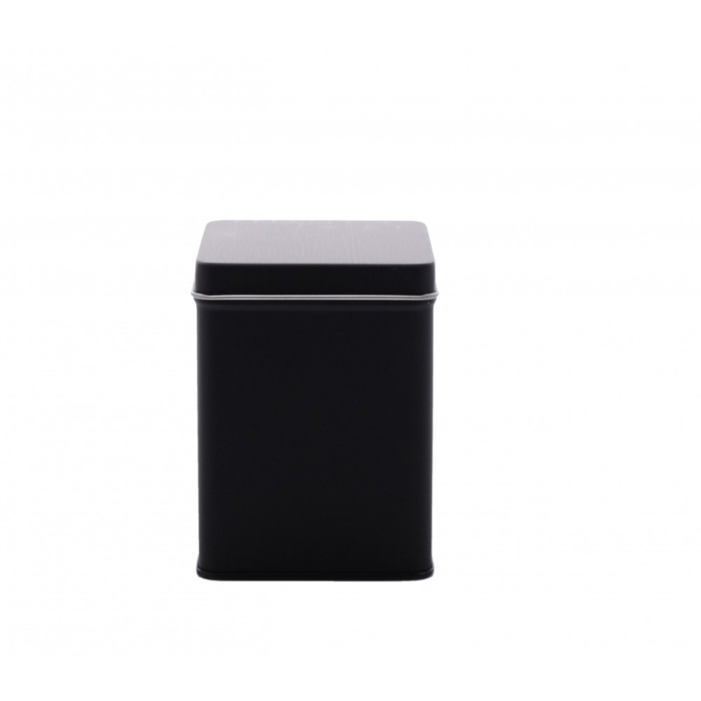 Matt Black Square Slip on Lid 100g Cup of Tea Ltd