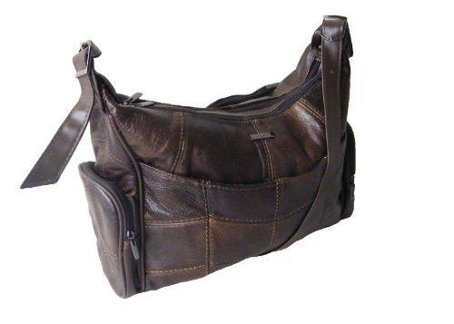 Lorenz Große Leder Handtasche in braun 3785