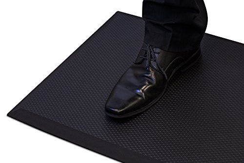 Mount-It! Anti-Fatigue Mat For Standing Desk, Kitchens, Garages, Premium Quality Rubber Gel, 19.7 inches (W) x 35.4 inches (L), Soft Ergonomic Comfort, Black by Mount-It!