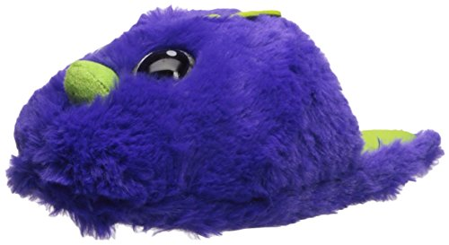 Hatchimals Draggle Plush Novelty Scuff Slippers, Purple, Girl's Dual Size 2/3 Child US Little Kid