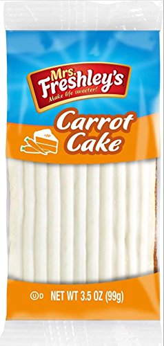 Mrs. Freshley's Carrot Cake, 3.5 Ounce 4 Packages by Mrs. Freshley's (Image #1)