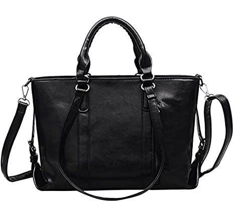 TangFeii Business bag water repellent finish Color : Black, Size : L