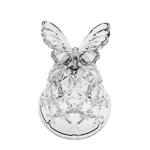 The Crystal Wonderland Crystal Cut Butterfly Wedding Bell Figurine
