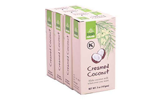 Creamed Coconut 141 gms (5 oz) x 5 from Fresh Naturale Kosher Certified (pack of 5)