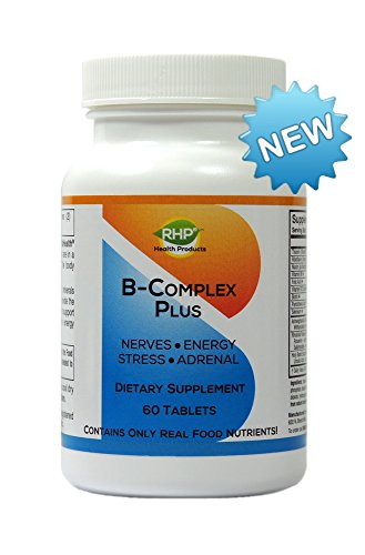 Super Whole food B-Complex Plus - Vitamins, Minerals & Herbs. Promotes Energy, Stress Relief, Adrenals & Nerves. 60 Small - Small 60 Tablets
