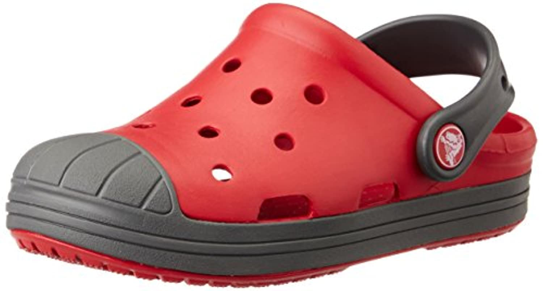 Crocs Bumper Toe Unisex Kids Clogs - Blue (Cerulean Blue/Oyster), 3 Child UK (34-35 EU)