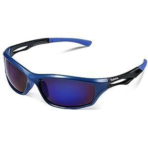 Duduma Polarized Sports Sunglasses for Running Cycling Fishing Golf Tr90 Unbreakable Frame (blue/blue)