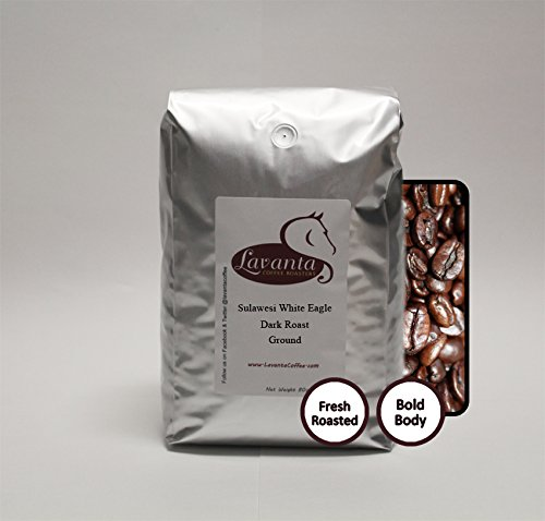 Lavanta Coffee Roasters Sulawesi Toraja 'White Eagle' Freshly Roasted Direct Trade Coffee, Dark Ground, 5lb by Lavanta Coffee Roasters