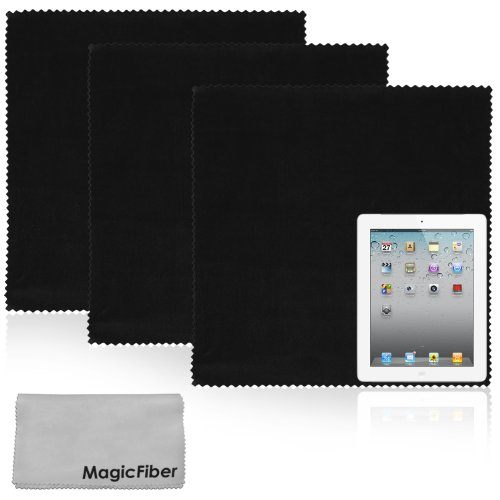 (4 Piece Combo) The BIG MagicFiber® – Extra Large Premium Microfiber Cleaning Cloths for Tablet and LCD TV Screens – 2 Size Set, Best Gadgets
