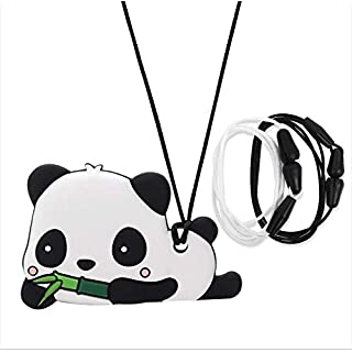 AmazingM Panda Sensory Chew Necklace for Boys and Girls,Food Grade Silicone Safety Pendant Chewy Teether Jewelry for Kids with Autism, ADHD,Oral Motor,Teething,Biting Needs