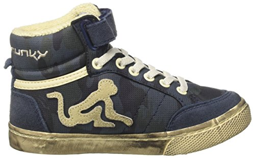 Alto Blu Boston Blue Bambino DrunknMunky a Sneaker Collo Camu Navy xwT00XqdZ