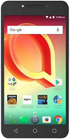 Alcatel A50 - 16 GB - Unlocked (AT&T/T-Mobile) - Metal Silver - Prime Exclusive - with Lockscreen Offers & Ads