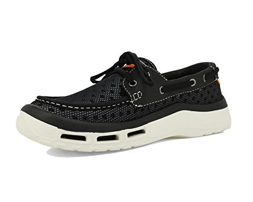 SoftScience The Fin 2.0 Men's Fishing/Boating Shoes - Black, Size 7