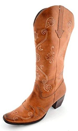 Footwear Corkys 9 Women's Leather Cowboy Eve Elite Amber Amber Boots Z7dU7q