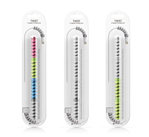 Lightning Charger Cable Saver | MacBook iPhone Micro USB Protector | PC/Notebook Charging Cable Saver. Snug Fit For All Cell Phones, Computers, and Chargers. Protect Your Investment. (color-4pcs)