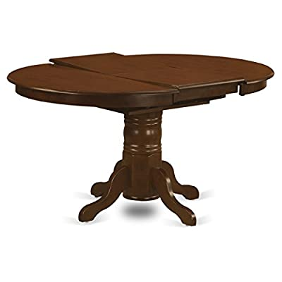 East West Furniture Oval Dining Table with 18-Inch Butterfly Leaf