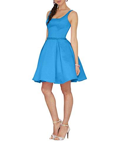 Blau Partykleider Satin Abendkleider mia Formalkleider Cocktailkleider Kurz Brau La Jugendweihe Ballkleider Kleider Mini Y7qBBCw