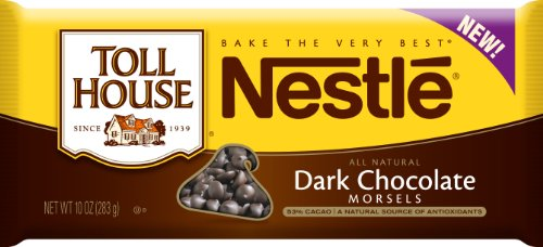 Toll House Dark Chocolate Morsels, 10-Ounce (Pack of 6)