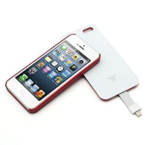 Red 2800mAh Detachable Magnetic Adsorption Battery Charger Power Bank Case for iPhone 5