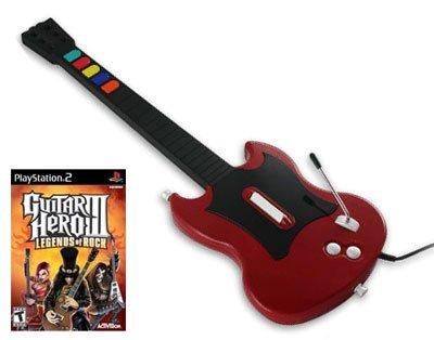 Ps2 Octane Red - Cherry Guitar Hero SG Controller for PS2 and Guitar Hero 3